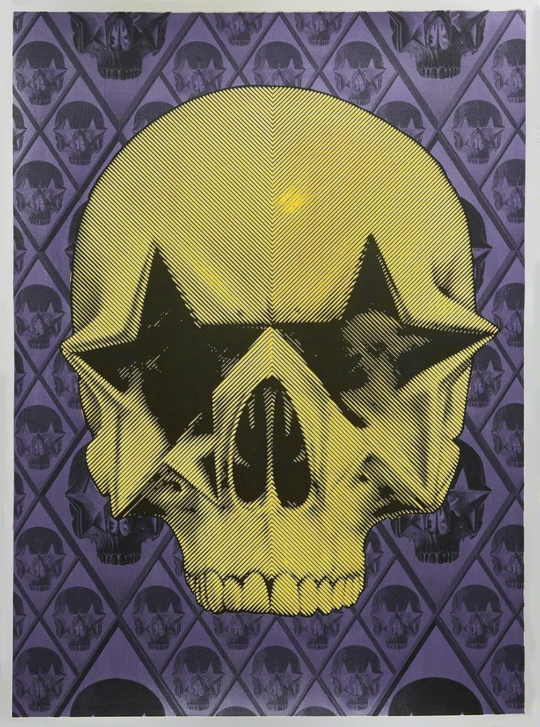 Starskull Positive (Yellow Skull on Violet)