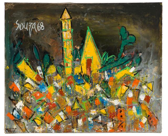 Francis Newton Souza, 'Townscape in Croatia', 1968, John Moran Auctioneers