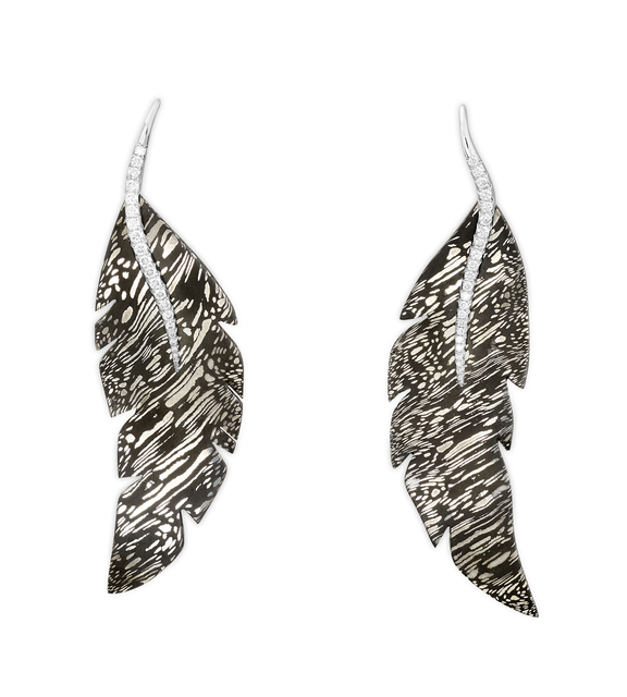 , 'Acier Damas Earrings,' , Lorenz Bäumer Paris