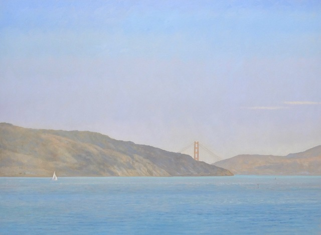 Willard Dixon, 'Racoon Strait / Golden Gate Bridge with sailing ships , California landscape ', 2019, Andra Norris Gallery