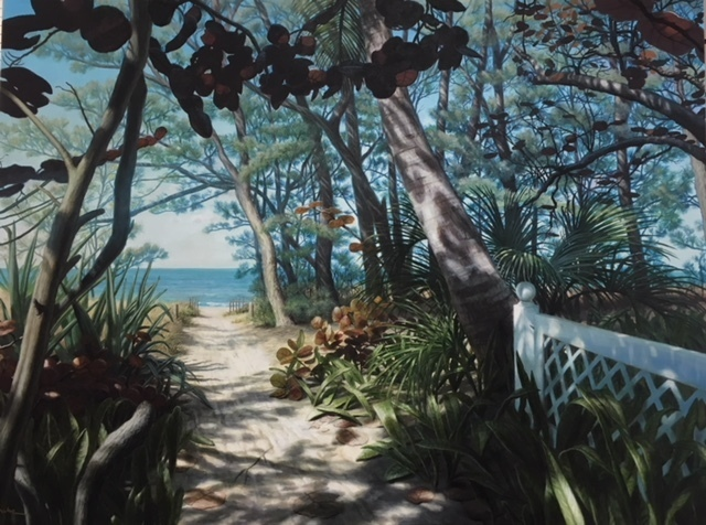 , 'Captiva Beach Path,' 2017, Renata Fine Arts