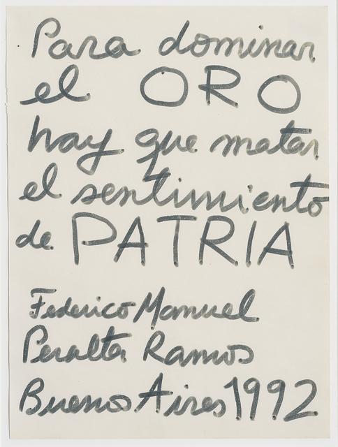 , 'Sin título,' 1992, Del Infinito