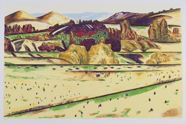 Jeffrey Makin, 'Rubicon Valley', 1996, Print, Screenprint on paper, Angela Tandori Fine Art