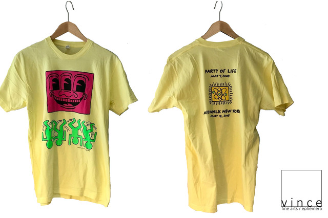 ", '""Party of Life"", 2008,  Limited Edition Tee-Shirt, Aids Walk New York, SIZE medium, MINT,' 2008, VINCE fine arts/ephemera"
