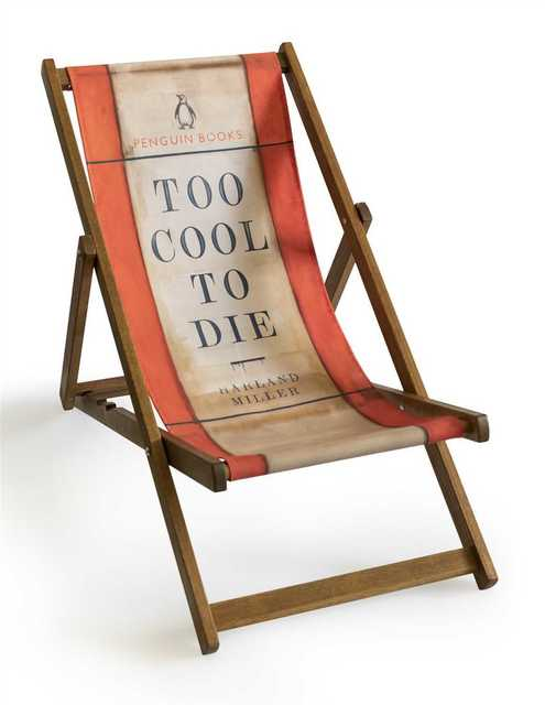 Harland Miller, 'Too Cool To Die (Deck Chair)', 2013, Tate Ward Auctions