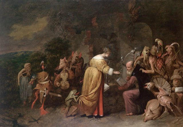 , 'The Temptation of Saint Anthony,' 1649, Bowdoin College Museum of Art