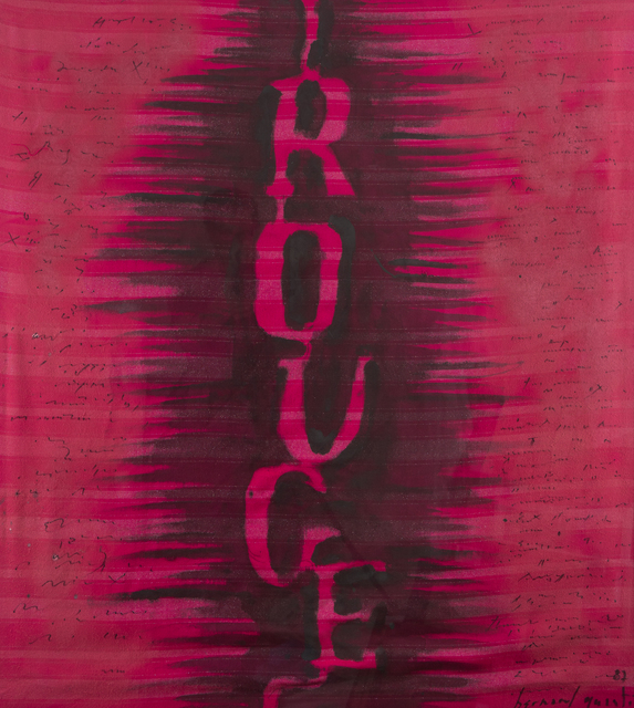 Bernard Quentin, 'Rouge', 1983, Textile Arts, Mixed media on fabric, DIGARD AUCTION