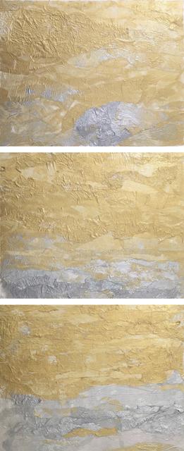 , 'Golden Sky | Silver Sea Triptych,' 2018, Tiffany's Art Agency