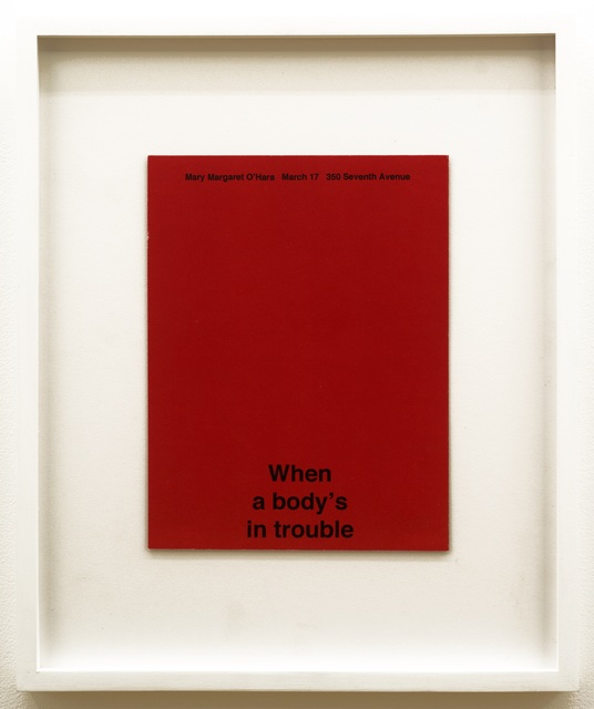 , 'Body's In Trouble,' 2016, V1 Gallery