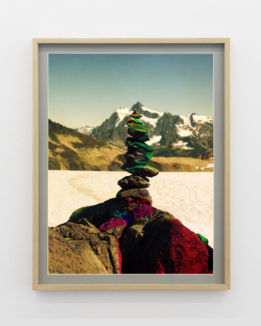 , 'Variation of Cairn on Ptarmigan Ridge with Mt. Shuksan in Background (B),' 2014, V1 Gallery