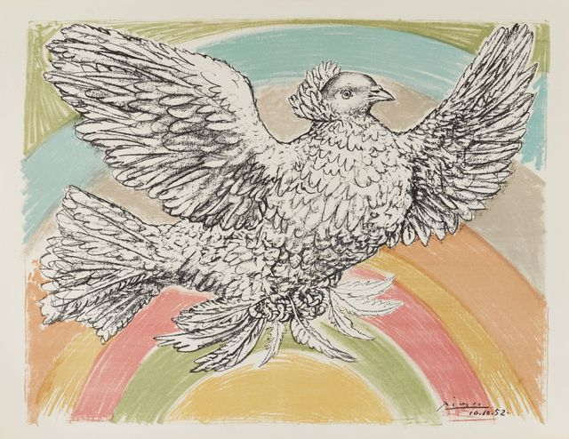 Pablo Picasso, 'Colombe Volant (Flying Dove) [Bloch 712]', 1952, Roseberys