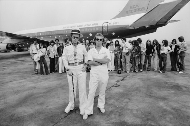 Terry O'Neill, 'Elton John Dodger Stadium, Aeroplane', 1975, Mouche Gallery