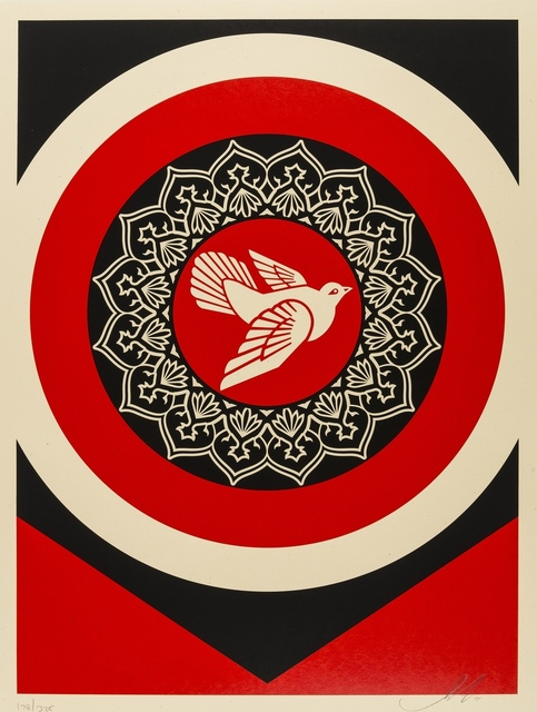 Shepard Fairey, 'Obey Peace Dove (Red)', 2011, Forum Auctions