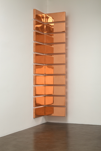 ", 'Copper Surrogate (60"" x 120"" 48 ounce C11000 Copper Alloy, 90º Bend, 120"" Bisection/10 Sections: ... ),' 2015, Petzel Gallery"