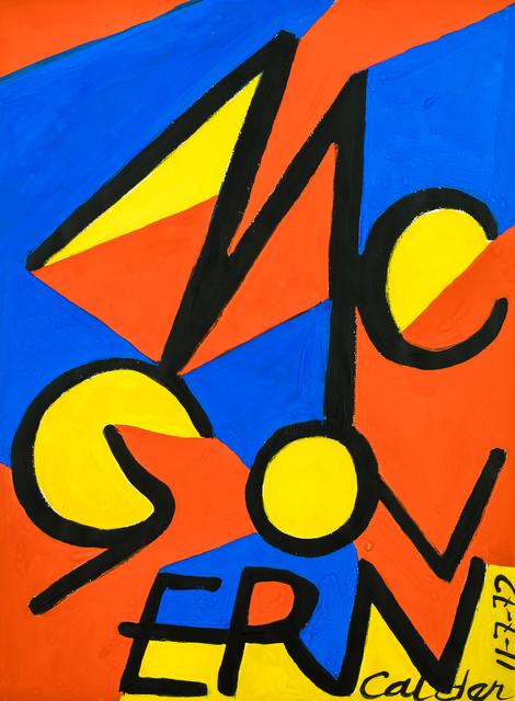 , 'McGovern,' 1972, Stern Pissarro