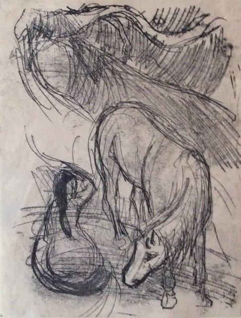 , 'Studies of a Horse and Kneeling Woman,' 1901-1902, Grob Gallery