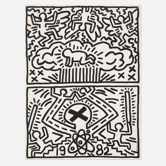 Keith Haring, 'Nuclear Disarmament poster', 1982, Rago/Wright
