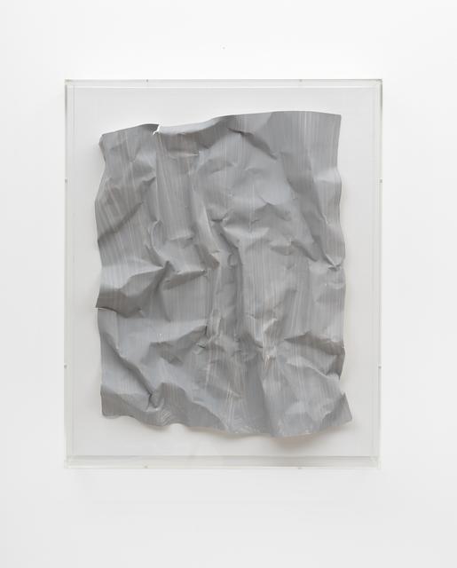 Özcan Kaplan, 'Papierarbeit (kiesgrau) #3, April 2018', FELD+HAUS