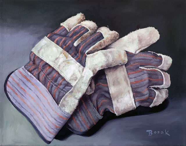, 'Work Gloves,' 2016, {9} The Gallery