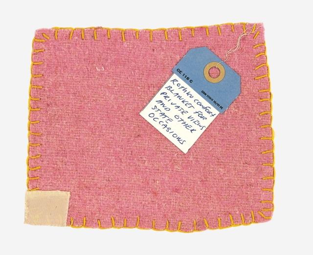 , 'Rothko Comfort Blanket,' 2010, Alpha 137 Gallery