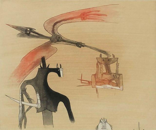 Wifredo Lam, 'Sans titre - XXe siecle plate #7', 1977, Kunzt Gallery