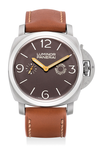 Panerai, 'An very fine and rare limited edition stainless steel wristwatch with 8-day Angelus movement, power reserve, guarantee and presentation box, numbered 111 of a limited edition of 150 pieces', Circa 2005, Phillips