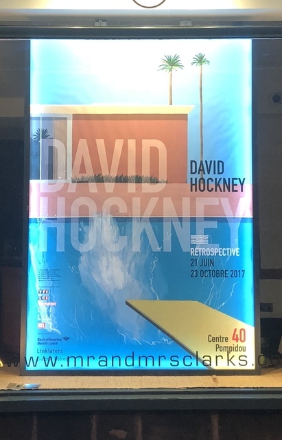 , 'A Bigger Splash, Pompidou Exhibition Poster (Extremely rare) David Hockney - Very large, back lit.,' 2017, Mr & Mrs Clark's