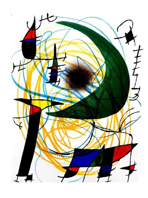 """Joan Miró, 'Original Lithograph """"Abstract Composition VII"""" by Joan Miro', 1981, Galerie Philia"""