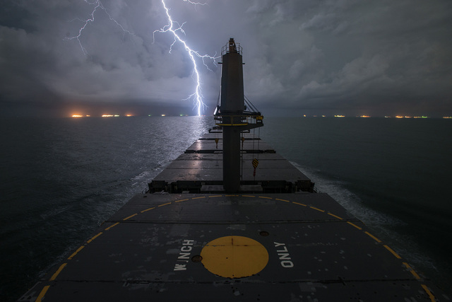 """, '""""Lightning, Gulf of Mexico"""",' ca. 2014, Foto Relevance"""