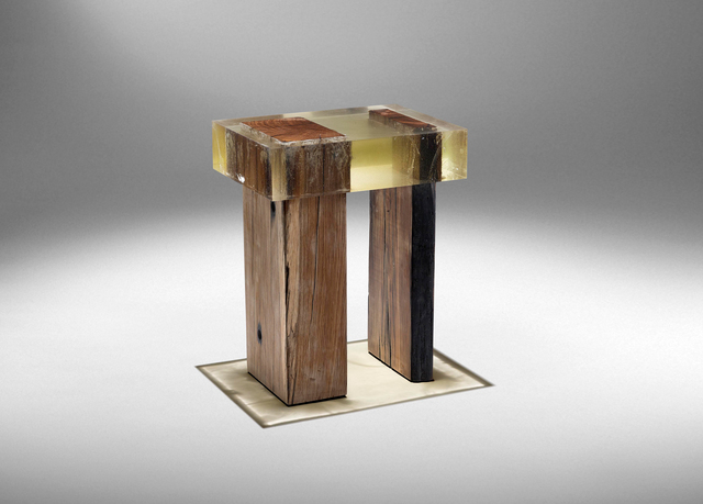 , 'Wood Fossil Stool 01,' 2017, ammann//gallery
