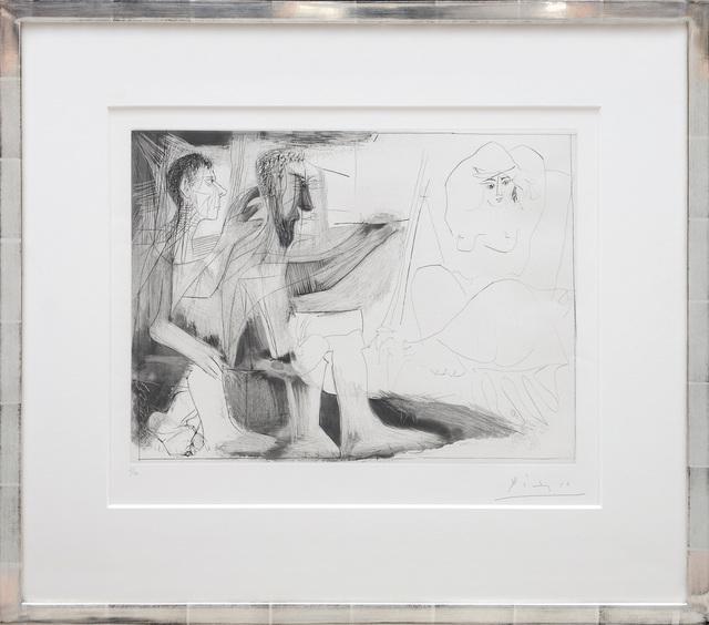 , 'Peintre barbu avec modèle nu et un spectateur. (Bearded Painter with Nude Model and a Spectator).,' 1963, Peter Harrington Gallery