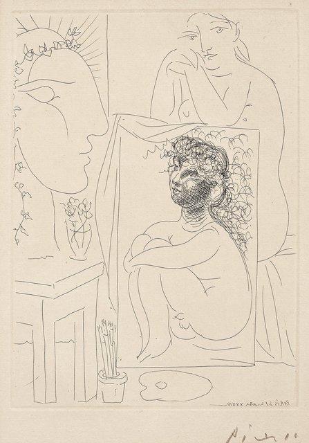 , 'Modèle, tableau et sculpture,' 1933, Galerie Raphael