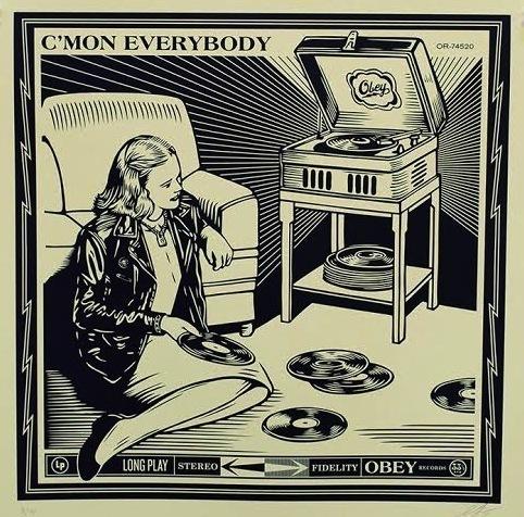 Shepard Fairey, 'C'mon Everybody', 2014, Vertu Fine Art