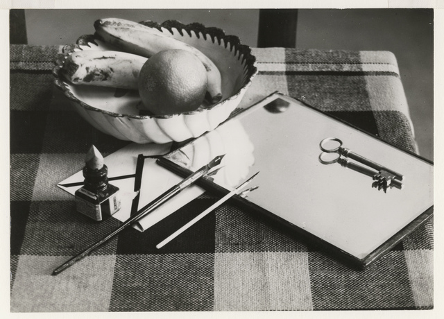 André Kertész, 'Modernist Still Life: Table with Fruit Bowl, Ink and Pen, Mirror and Key', 1927 / 1927c, Contemporary Works/Vintage Works