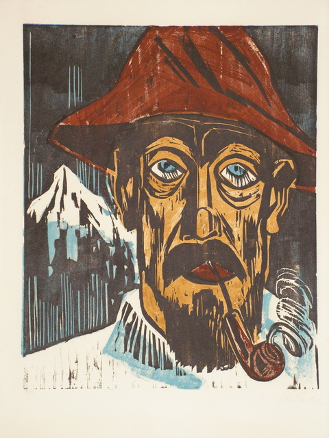 , 'Rauchender Schweitzer, Smoking Diary Man,' 1923, Worthington Gallery