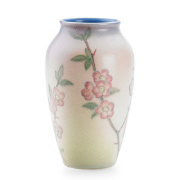 Double Vellum vase with cherry blossoms (uncrazed), Cincinnati, OH