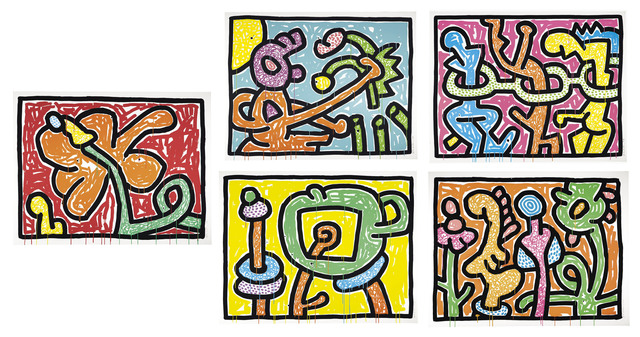 Keith Haring, 'Flowers 1-5', 1990, Christie's