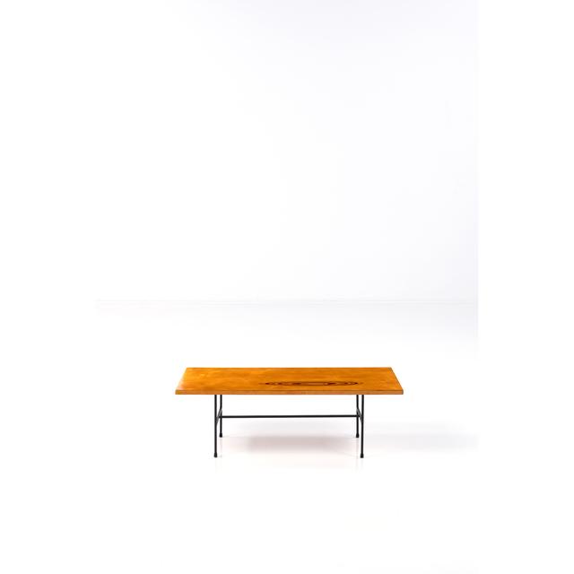 Tapio Wirkkala, '902 Model coffee  table', vers 1958, Design/Decorative Art, Métal et essence de bois en inclusion, PIASA