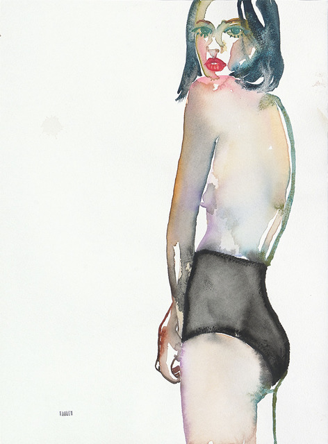 Fahren Feingold, 'Eyes Too Big For Tomorrow', 2017, Painting, Watercolor on paper, The Untitled Space