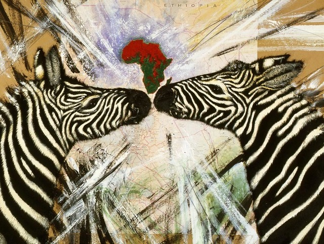 , 'Africa con Zebre Innamorate,' 1987, Nohra Haime Gallery
