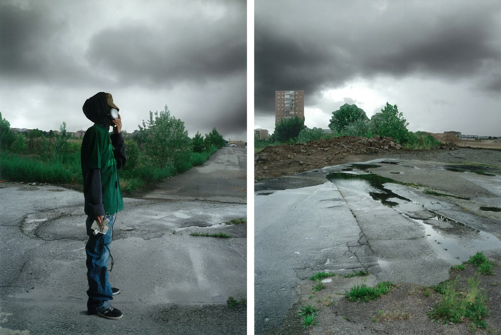 Botto&Bruno, La Rivolta - 2012 - Diptych,vutec print on banner - cm 180x268