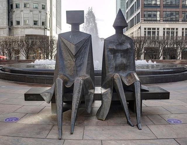 , 'Couple on Seat,' 1984, Osborne Samuel