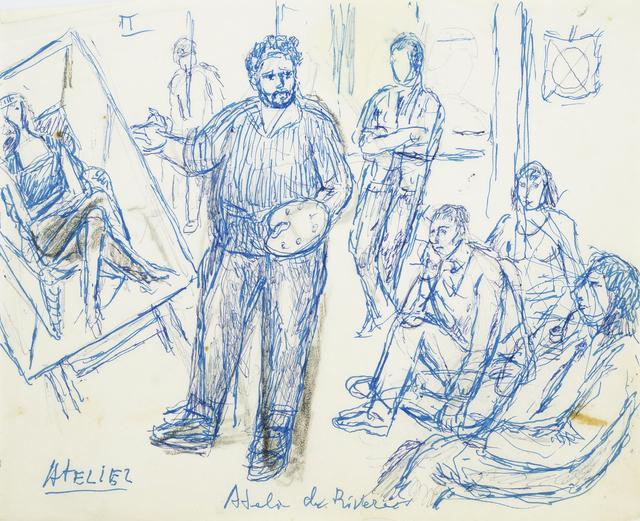 Marie Vorobieff Marevna, ''Atelier de Rivera'', Roseberys