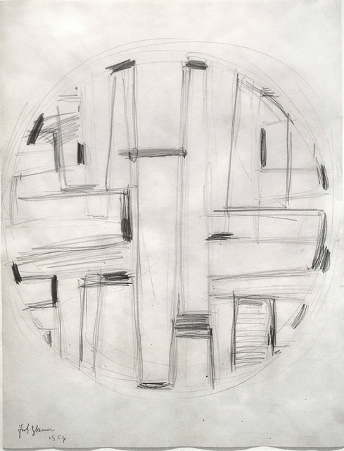 Fritz Glarner, 'Study for Tondo', 1954, Washburn Gallery