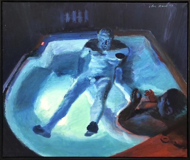 , 'Midnight jacuzzi swim,' 2019, 99 Loop Gallery