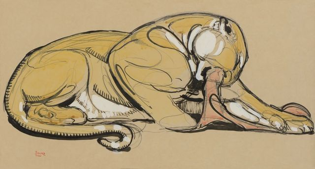 , 'Panther Lying on its Prey,' 1930, Galerie Marcilhac