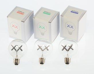 Limited Edition XX Light Bulbs, set of three