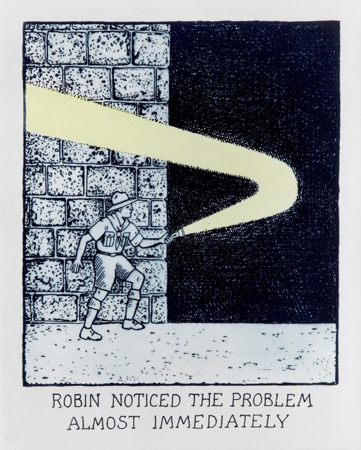 , 'Robin Noticed the Problem Almost Immediately,' 2016, Flowers
