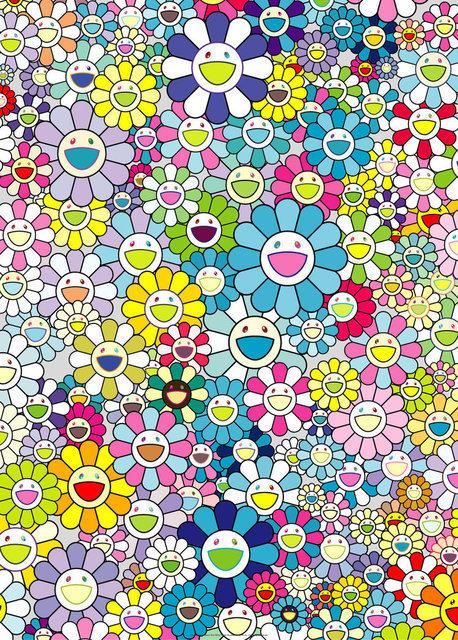 Takashi Murakami, 'Champagne Supernova: Blue', 2018, Lougher Contemporary