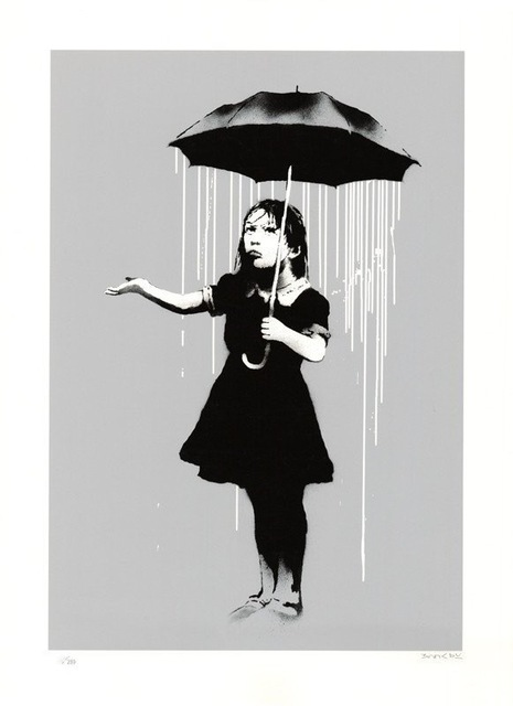 Banksy, 'NOLA White Rain Signed, 2008', 2008, Kings Wood Art